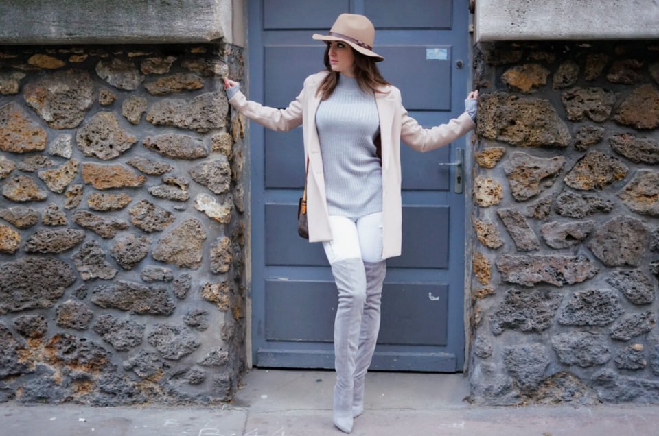 Le jean blanc en hiver ? Oui, c'est possible !